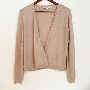 Peplum-Back Loft Open Sweater
